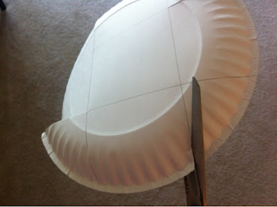easy 5 step paper plate baskets for camping or picnics www.thebrighterwriter.blogspot.com