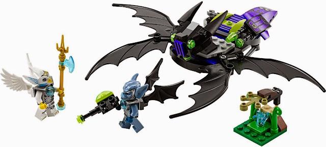 Hình ảnh đẹp mắt của bộ Xếp hình Lego Máy bay chiến đấu Dơi