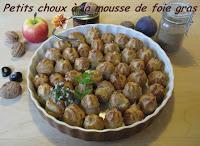 Petits choux à la mousse de foie gras - recette indexée dans les Entrées