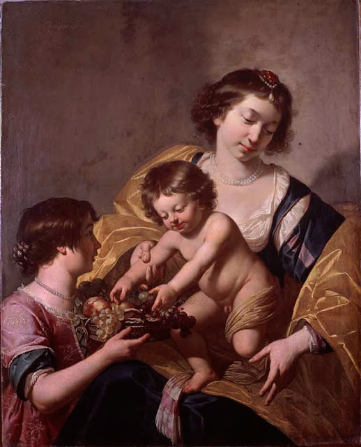 Jan van Bijlert - Mary with Child and John the Baptist child( Brukenthal Museum)