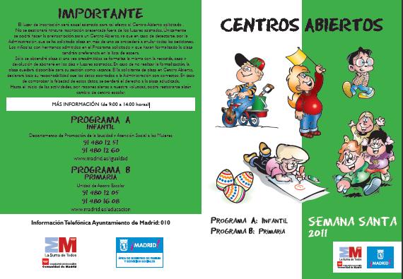 Centros abiertos en Madrid Semana Santa 2011