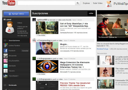 youtube personalizado