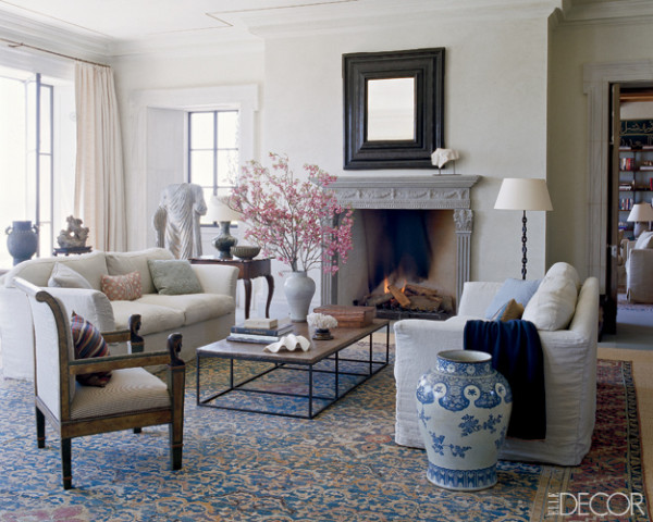 In This Living Room Designed By Michael Smith A Naturally Serene Color Palette Combined With Mixture Of Antiques Gives The That Undecorated Look
