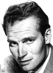 Pencil portrait of Charton Heston
