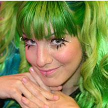 Marimoon de cabelos verdes
