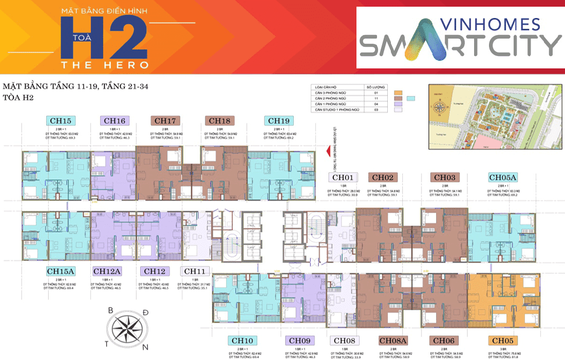 toa h2 vinhomes smart city