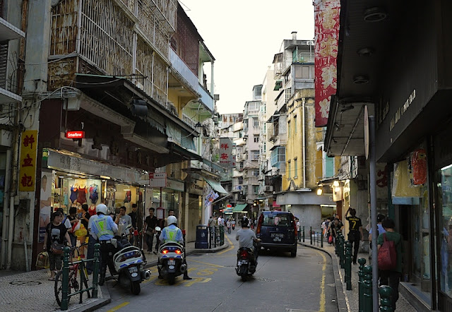 narrow street in Macau