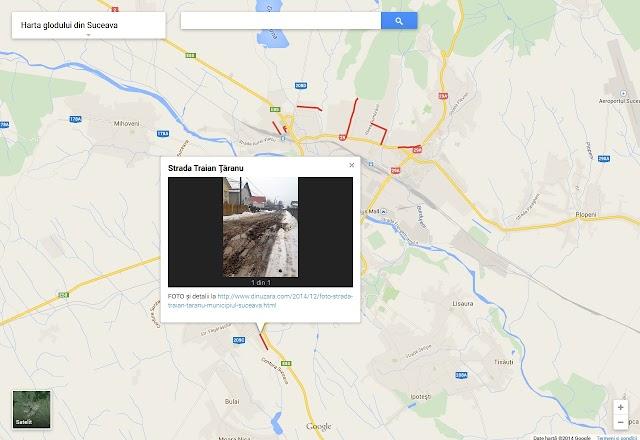 Harta glodului din municipiul Suceava