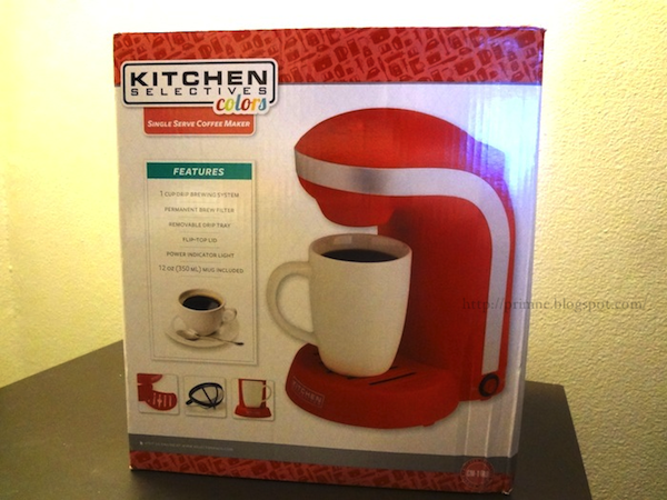 Kitchen Selectives Single Serve Coffee Maker Assorted Colors