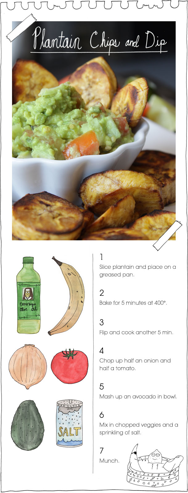 The Vegan Stoner's Plantain Chips and Dip