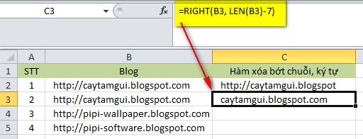 Hàm xóa chuỗi/ký tự trong Excel