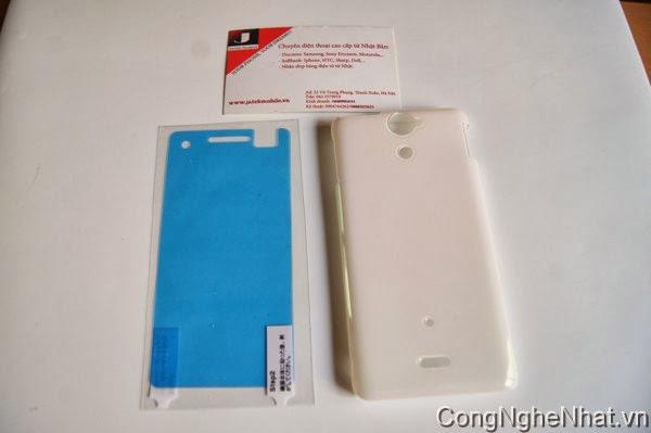 Ốp lưng Sony Xperia V (AX SO-01E) mầu trắng ngọc trai