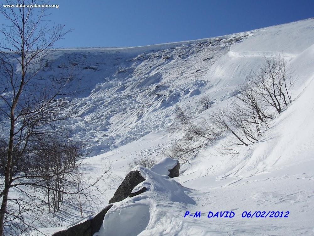 """Avalanche Vosges, secteur Le Kastelberg, Combe des Hirondelles (""""Nid d'Hirondelle"""" ou Schwalbennest) - Mittlach - Metzeral - Photo 1 - © David Pierre-Marie"""