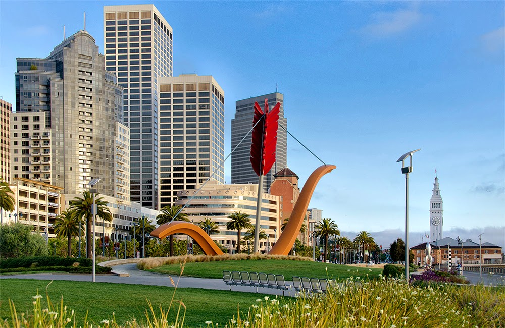 San Francisco: Cupid Span, The Embarcadero, GooglePlex