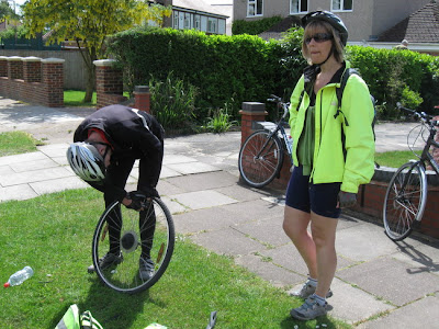 Puncture being fixed