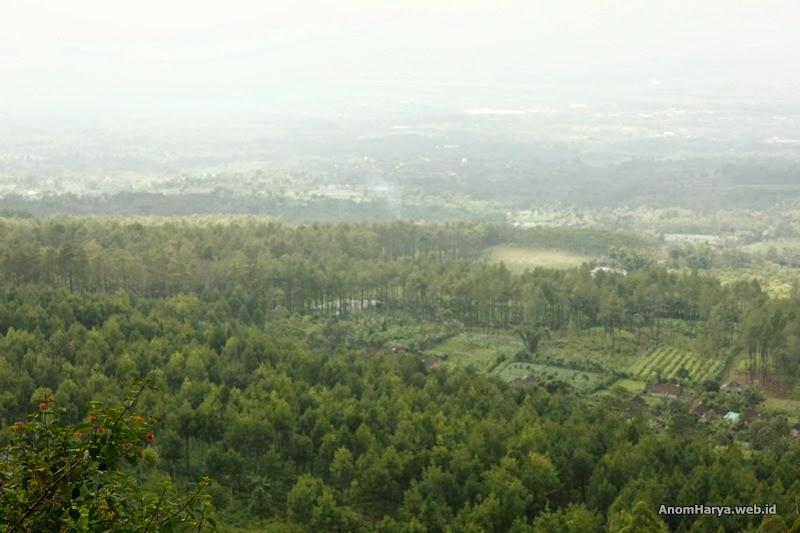 Pemandangan lembah Gunung Arjuno