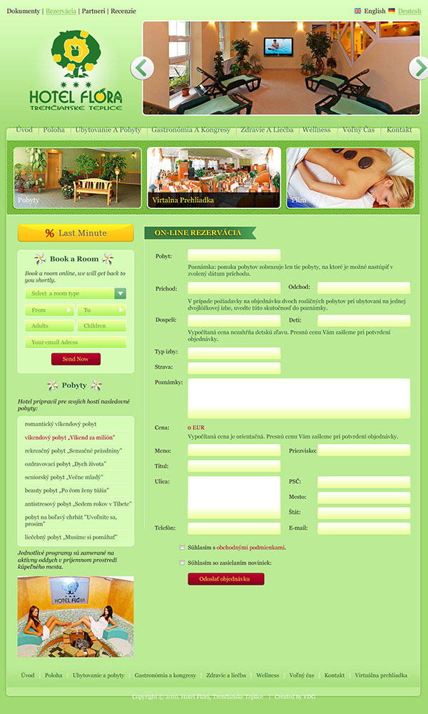 hotel website contact form design