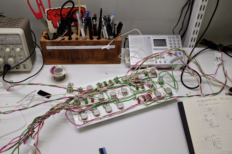 Wiring partially complete