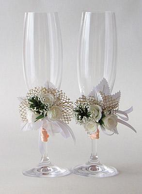 Сделать своими руками бокалы для свадьбы своими руками