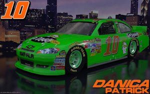 Danica Patrick Go Daddy Outdoor 1 Wallpaper