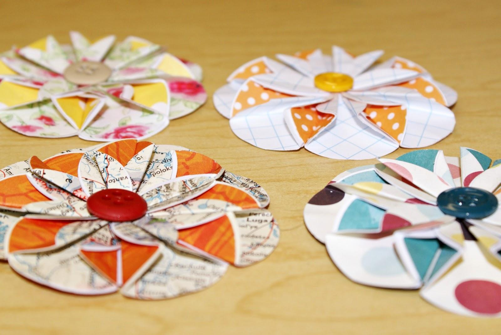 How to scrapbook flowers - Paper Flower Tutorial