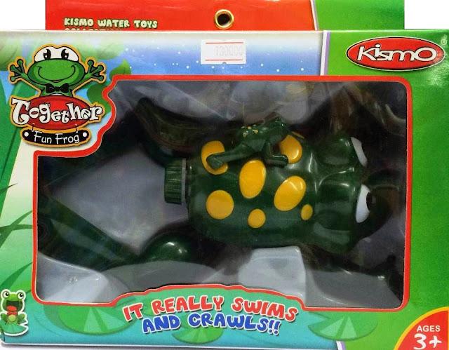 Ếch con biết bơi màu xanh đục Fun Frog là món đồ chơi dành cho trẻ em từ 3 tuổi trở lên