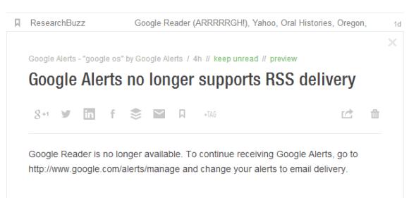 Google Alerts No RSS