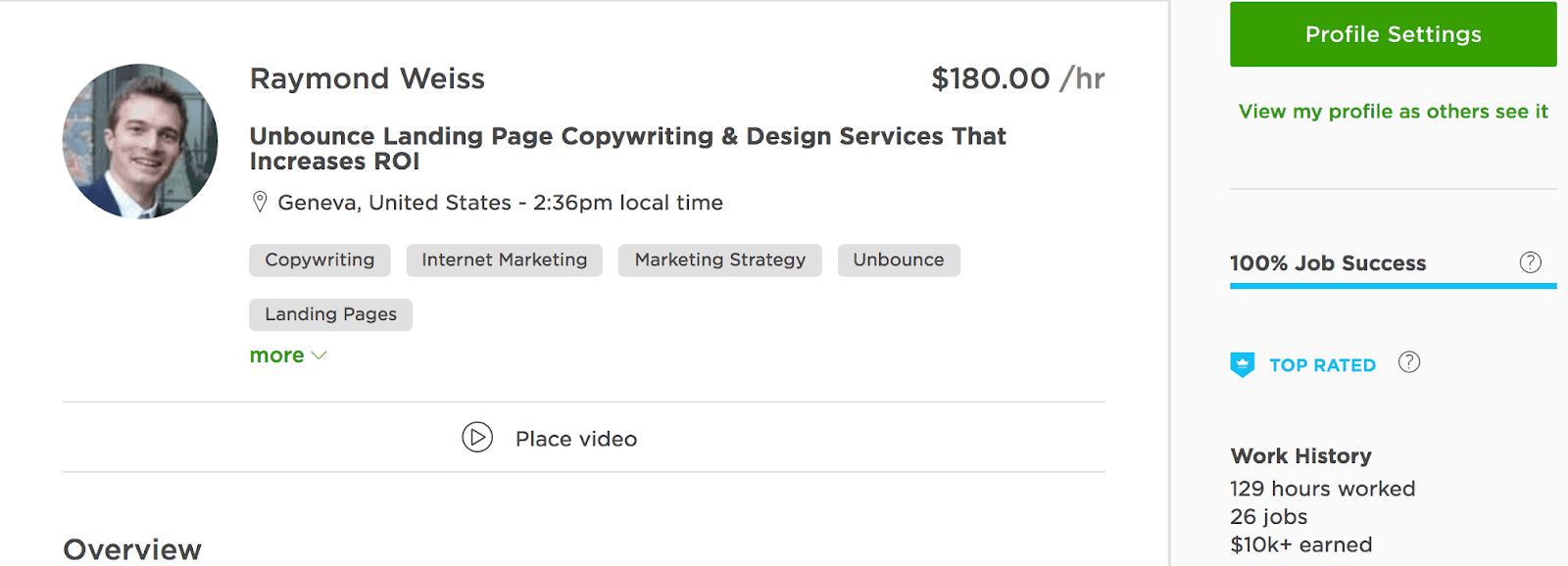 Upwork Freelance Writing Snapshot