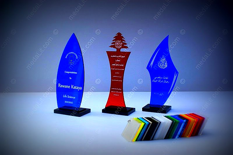 Absi Acrylic Budget Trophy Awards - Different colors