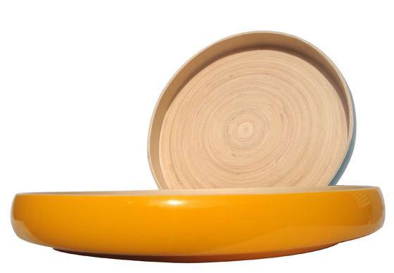 Recipientes mesa bambú