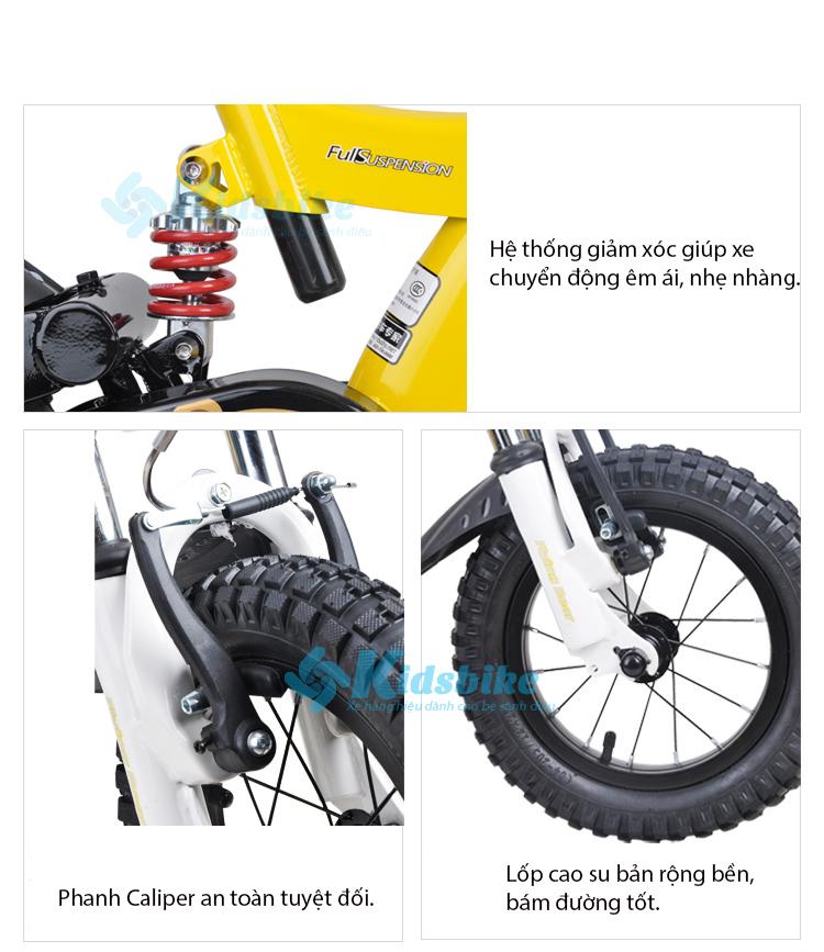 bánh, giảm xóc, bàn đạp xe đạp Royal baby Flying bear