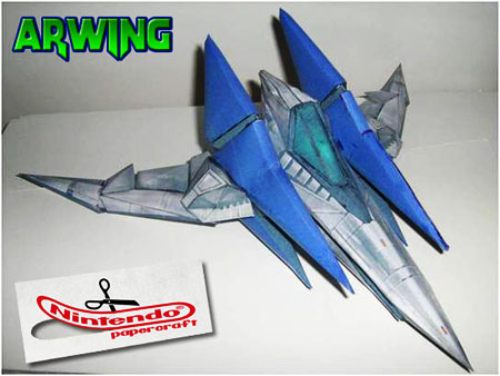 SSBB Arwing Papercraft