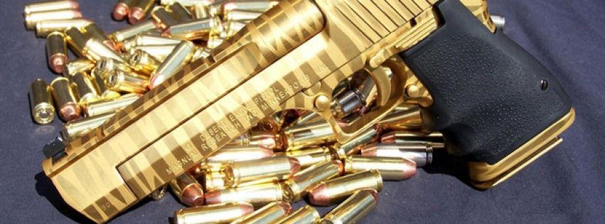 Gold desert eagle silah kapak fotoğrafları