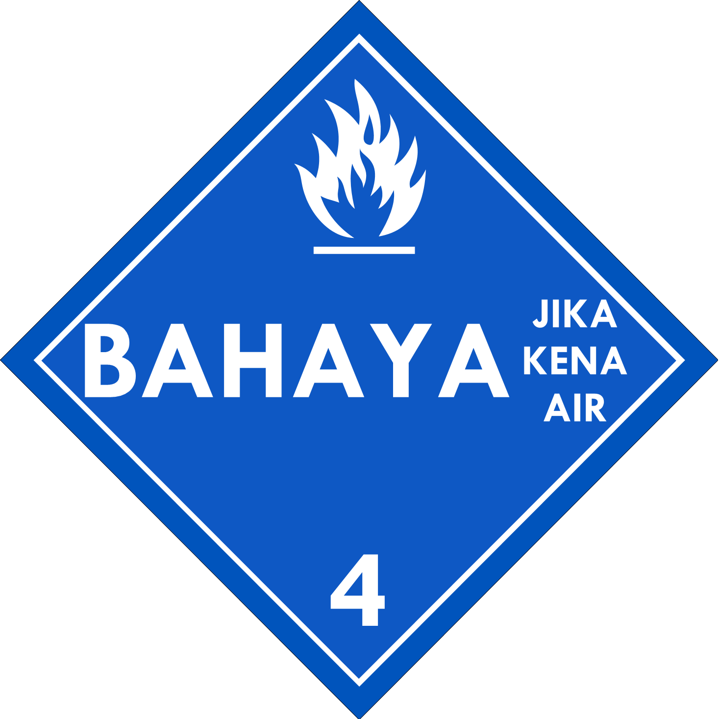 Label (Simbol) Transportasi Bahan (Material) Zat Padat Jika Terkena Air 4.3