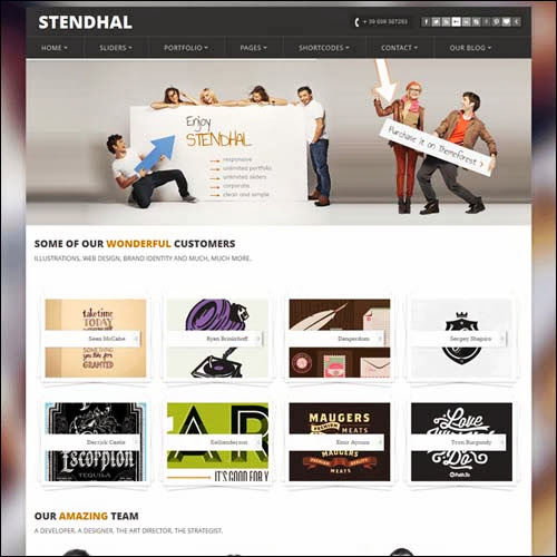 theme wordpress stendhal