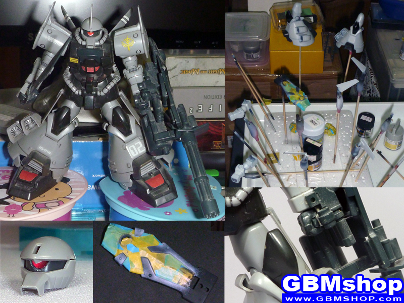 making Bandai 1/144 MS-07H-8 Gouf Flight Type