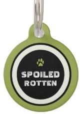 Green Custom Dog ID Tag