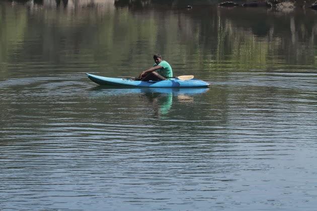 Kayaking on the river Kali at Dandeli, Karnataka, India