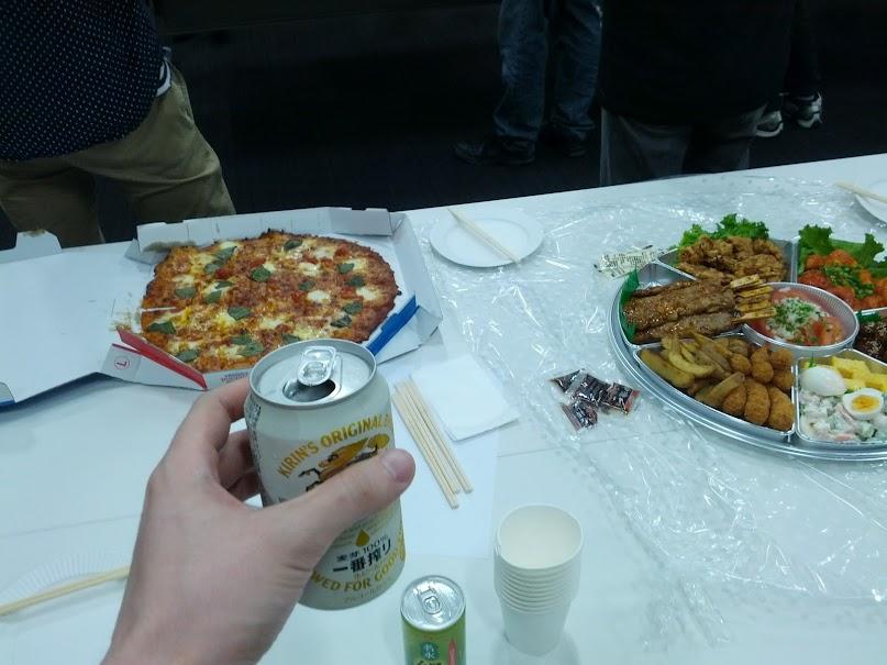 ビールと食べ物