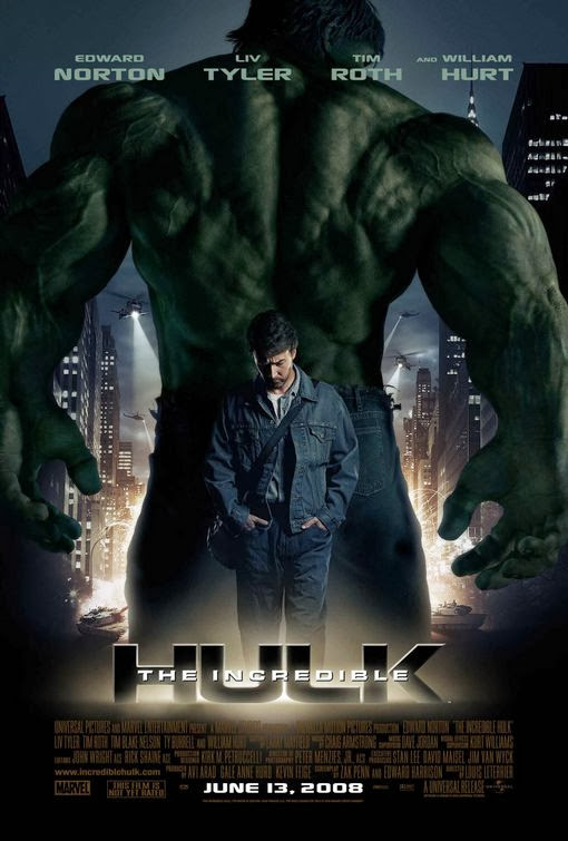 Poster Of The Incredible Hulk (2008) Full Movie Hindi Dubbed Free Download Watch Online At Alldownloads4u.Com