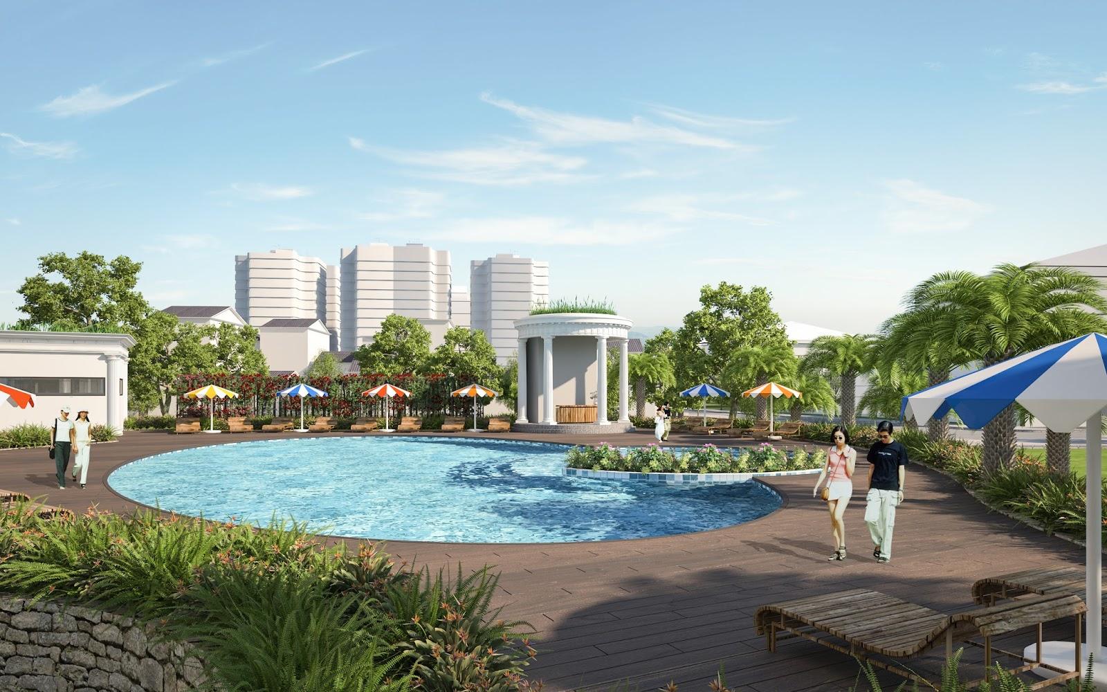 Bể bơi tại dự án Iris Garden Mỹ Đình