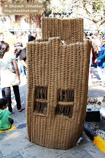 Kala Ghoda - Handmade cupboard or box made from cow dung or clay