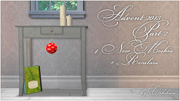 Advent-Gift 2013 - New Mesh (Part 2) by Ohbehave Advent2013Pt2-1