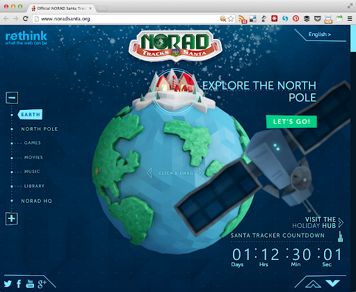 Track Santa op Norad