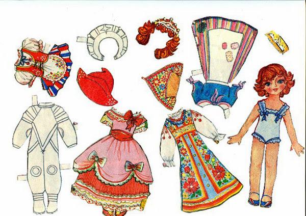 бумажные куклы, игрушки, куклы, ссср, детство, музей детства, история