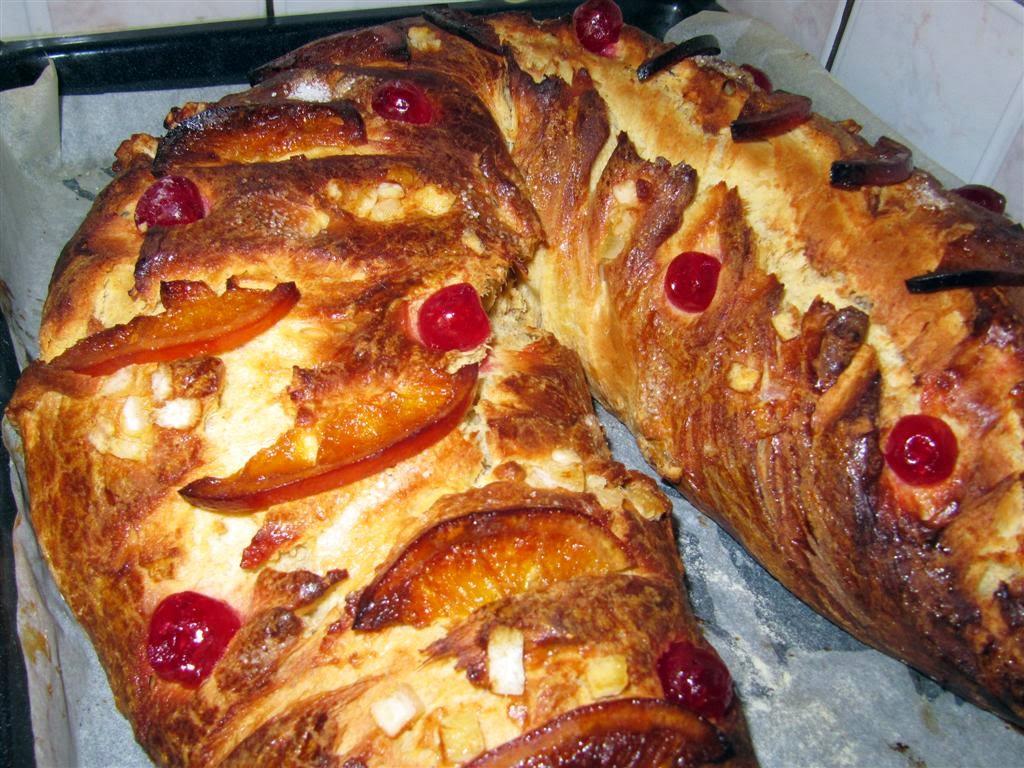 rosca de reyes božič kruh