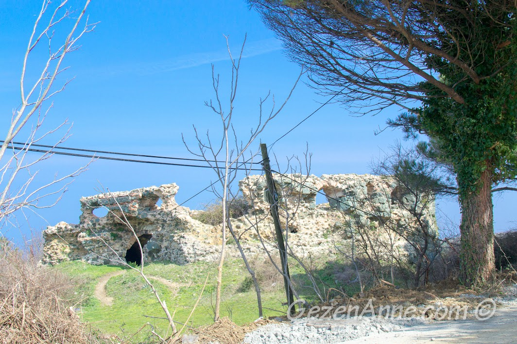 Poyrazköy kalesi kalıntıları