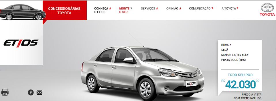 Tabela FIPE - Atenção e cuidados ao contratar um seguro para seu Etios! X+Sedan+Toyota