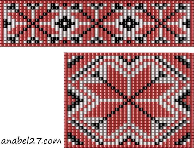 схема гердана бисерное ткачество бисероплетение