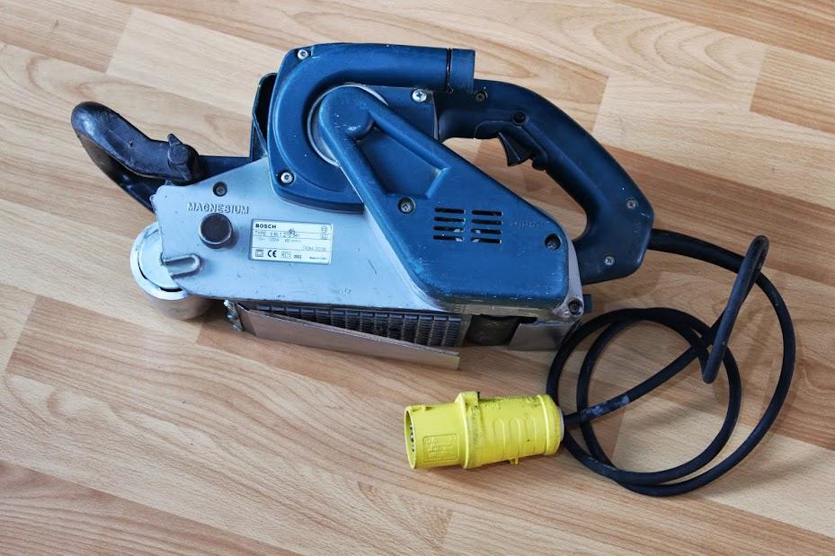 Bosch gbs 100 a belt floor sander 110v ebay for 110v floor sander